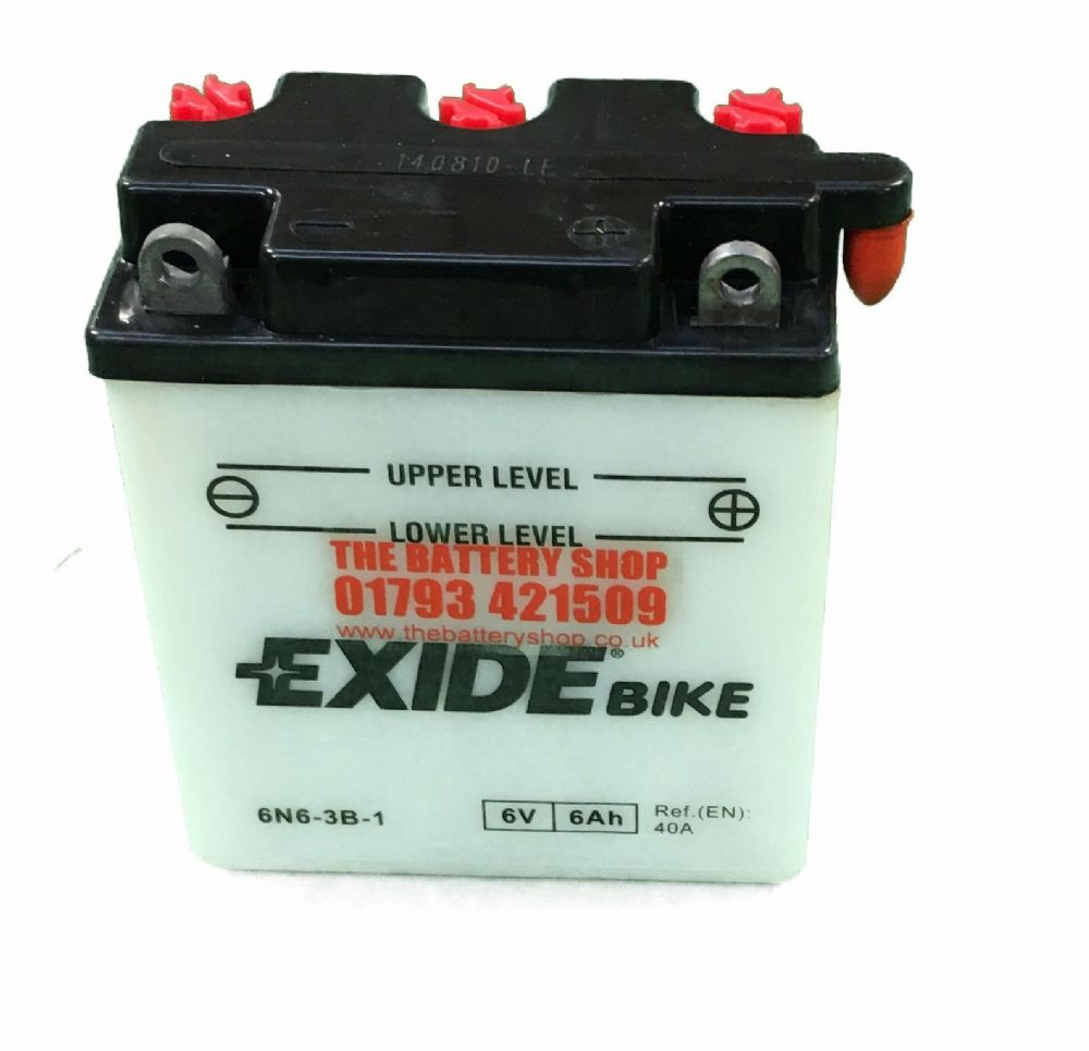 Exide 6n6 3b 1 Motorcycle Battery 6v 6ah 40a